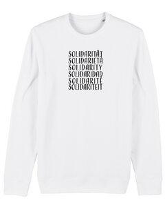 """Bio Unisex Rundhals-Sweatshirt - """"Switch - Solidarity""""  - Human Family"""