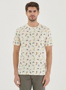 Allover Print T-Shirt Wintersports - ORGANICATION