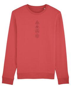 """Bio Unisex Rundhals-Sweatshirt - """"Araise - Geometric Line""""  - Human Family"""