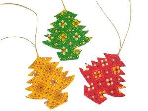 Weihnachten Anhänger Textil 6er-Set - Schönes aus Indochina