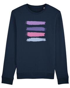 "Bio Unisex Rundhals-Sweatshirt - ""Araise - Acryl Stripes""  - Human Family"