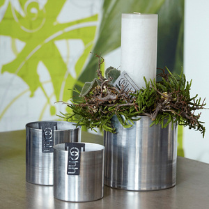 Recyclingübertopf - 'Alu Cylinder Pot'  (small) - Oohh