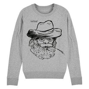 Sweatshirt - Bedruckter Damen Sweater aus Bio-Baumwolle FARMER - karlskopf