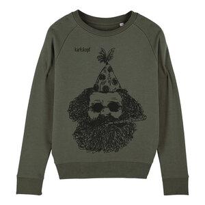 Sweatshirt - Bedruckter Damen Sweater aus Bio-Baumwolle FASCHING - karlskopf
