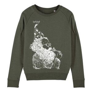 Sweatshirt - Bedruckter Damen Sweater aus Bio-Baumwolle KAFFEEKLATSCH - karlskopf