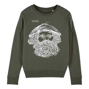 Sweatshirt - Bedruckter Damen Sweater aus Bio-Baumwolle VIETNAMESE - karlskopf