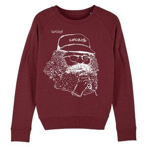 Sweatshirt - Bedruckter Damen Sweater aus Bio-Baumwolle SÄNGER - karlskopf