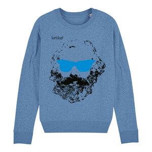 Sweatshirt - Bedruckter Damen Sweater aus Bio-Baumwolle CHILLER - karlskopf