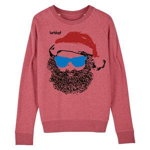 Sweatshirt - Bedruckter Damen Sweater aus Bio-Baumwolle SANTA KARL - karlskopf