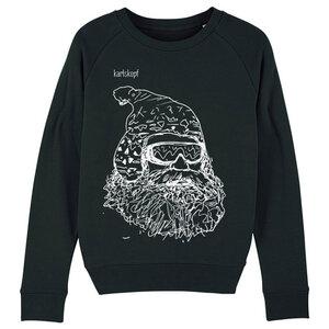 Sweatshirt - Bedruckter Damen Sweater aus Bio-Baumwolle SKIFAHRER - karlskopf