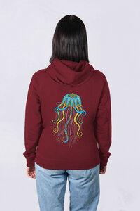 Damen Hoodie Qualle aus Bio-Baumwolle - vis wear