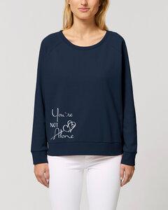 """Weites Bio Damen Rundhals Sweatshirt """"Dazzy - Not Alone"""" - in 4 Farben - Human Family"""