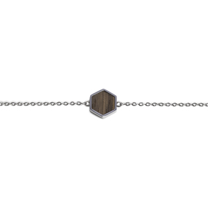 "Armband mit Holzdetail ""Lini Hexagon Bracelet"" - BeWooden"