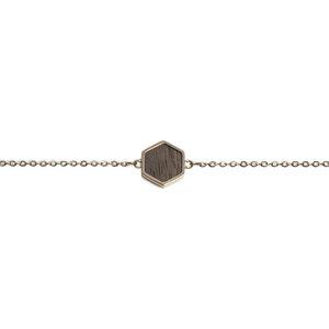 "Armband mit Holzdetail ""Lumen Hexagon Bracelet"" - BeWooden"