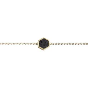 "Armband mit Holzdetail ""Lux Hexagon Bracelet"" - BeWooden"