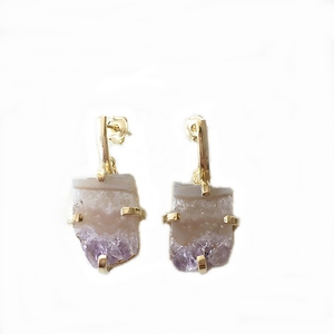 Amethyst Ohrringe - Crystal and Sage
