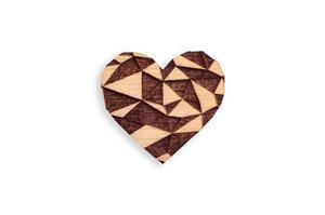 """Brosche aus Holz """"Love Brooch"""" - BeWooden"""