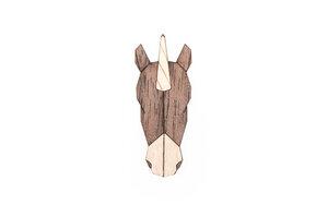 """Brosche aus Holz """"Unicorn Brooch"""" - BeWooden"""