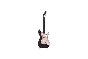 """Brosche aus Holz """"Electric Guitar Brooch"""" - BeWooden"""