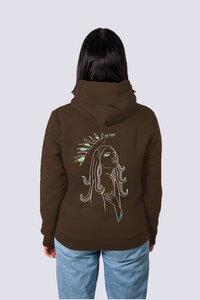 Göttin Damen Premium Hoodie aus Bio-Baumwolle - vis wear