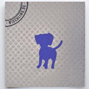 1 Schwammtuch, kompostierbar, bedruckt, Symbol: Hund - Wischling