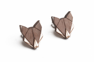 Ohringe mit Holzdetails Wolf Earrings  - BeWooden