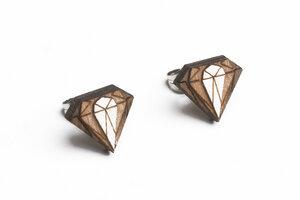 Ohringe mit Holzdetails Diamond Earrings  - BeWooden