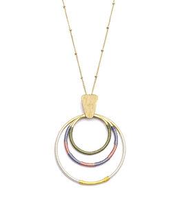 Halskette Kaia, Ringe 'Dawn', gold-farben - Frida Feeling