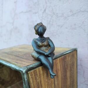 "Bronze-Skulptur ""Dicke Madame"" - Mama Akua"