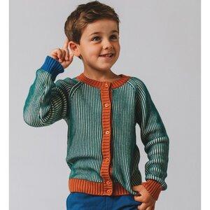 Baba Babywear Strick Cardigan pacific stripes Bio-Baumwolle - Baba Babywear