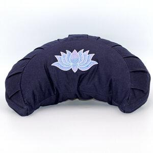 Meditationskissen Halbmond mit Lotus Bestickung im Farbverlauf - BAGHI