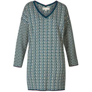 Oversize Jacquardstrick-Kleid aus reiner Bio-Baumwolle - Himalaya