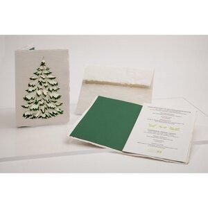 Briefkarte Tanne - Formes