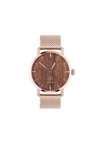 Damenuhr Rosegold mit Holz   Dawn Watch - BeWooden