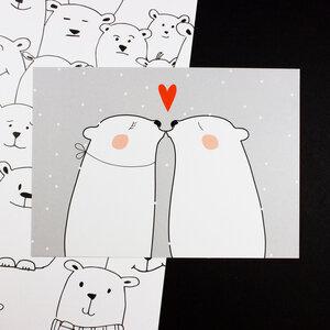 """Postkarte """"Bärengroße Liebe"""" - Bow & Hummingbird"""