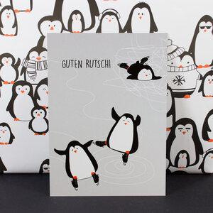 """Postkarte """"Guten Rutsch"""" - Bow & Hummingbird"""