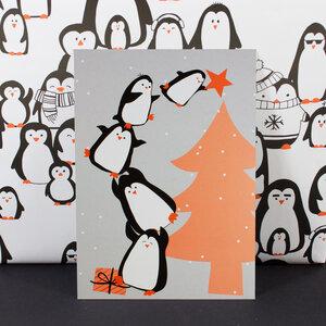 """Postkarte """"Pinguinbaum"""" - Bow & Hummingbird"""