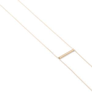 Kette BELONG, Gold 585, 14 Karat, Länge 80 cm, verstellbar ohne Verschluss, Handmade in Germany - Jonathan Radetz Jewellery