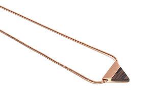 Kette mit dreieckigem Anhänger - Rose Necklace Triangle - BeWooden
