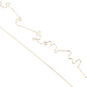 Kette Endless, fine(01), raw(02), Snake(03), endlos ohne Verschluss, 120 cm, Gold 585, 14 Karat, Made in Germany - Jonathan Radetz Jewellery