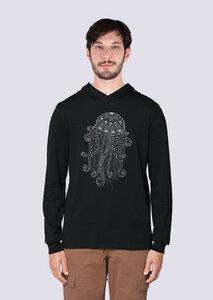 Yoga Qualle, Leichter Herren Hoodie aus Bio Baumwolle, Kapuzensweat, Sweatshirt - vis wear