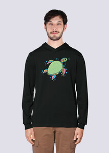 Süße Schildkröte, Leichter Herren Hoodie aus Bio Baumwolle, Kapuzensweat, Sweatshirt - vis wear