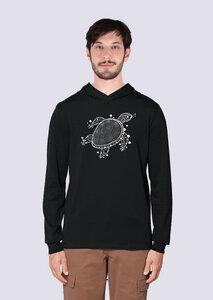 Schildkröte, Leichter Herren Hoodie aus Bio Baumwolle, Kapuzensweat, Sweatshirt - vis wear