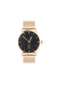 Damenuhr Gold mit Holz   Sunset Watch - BeWooden