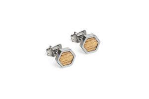 Ohringe mit Holzdetails | Lini Earrings Hexagon  - BeWooden
