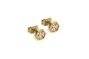 Ohringe mit Holzdetails   Virie Earrings Hexagon  - BeWooden