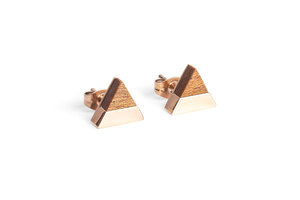 Ohringe mit Holzdetails Rea Earrings Triangle - BeWooden