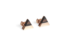 Ohringe mit Holzdetails Rose Earrings Triangle - BeWooden