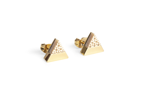 Ohringe mit Holzdetails Virie  Earrings Triangle - BeWooden