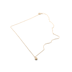 Kette CUBE, Gold 585, 14 Karat, Länge 43 -46 cm, Würfel 4mm, Handmade in Germany - Jonathan Radetz Jewellery